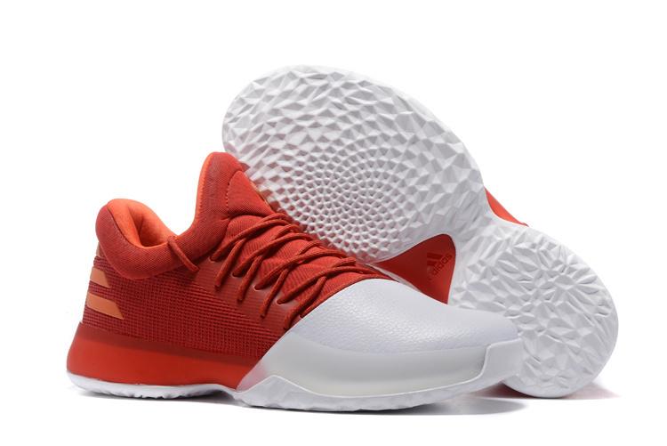 69693fd07b39 Fashion Adidas Harden Vol.1 Basketball Shoes Red white Men s Sport ...