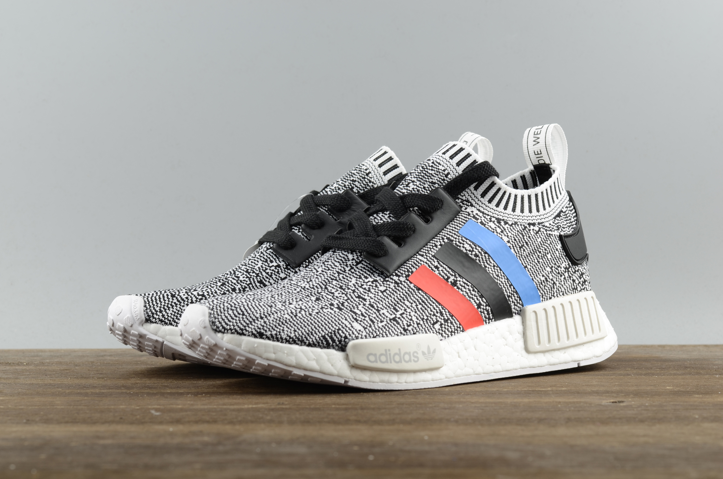 083d7f3babc18 Adidas NMD R1 Boost runner white Gray line shoes - Thumbnail 1 ...