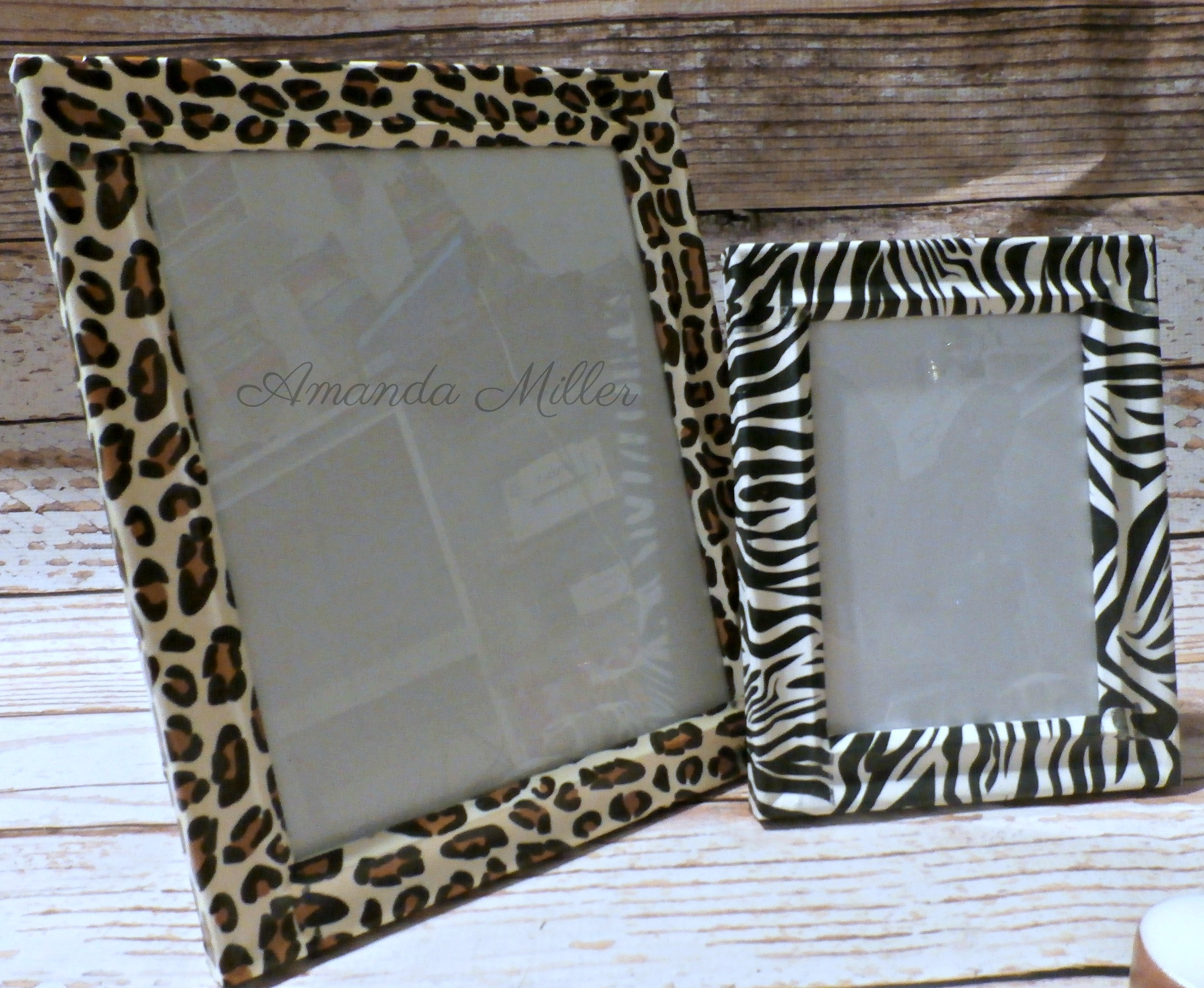 Picture Frames Set of 2 - Exotic Animal Safari Prints Decoupage ...