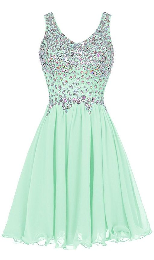 3e6759ee87f7a Mint Green Prom Dress,Beaded Prom Dress,Fashion Homecoming Dress,Sexy Party  Dress,Custom Made Evening Dress,283 from Lovefashion
