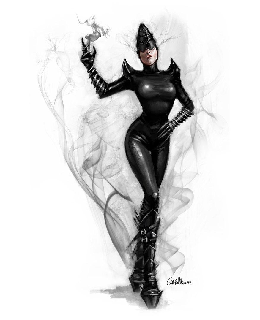 Shadow Tech Goddess , PRINT sci-fi painting alien artwork Bizarre sci-fi  from Carol Phillips Art