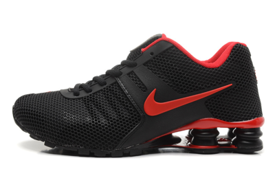 Men s Nike Shox Current Breathable Mesh Upper Shoes Black Red Free shipping ccd3029f5ebaf