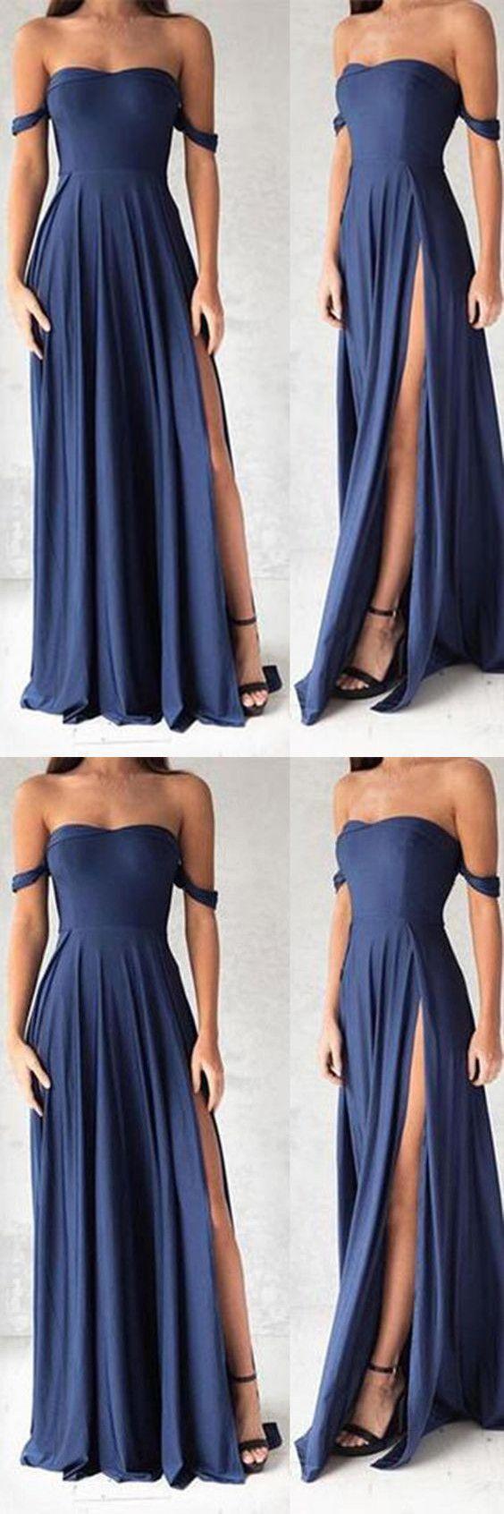 Navy Blue Prom Dresses,Elegant Evening Dresses,Long Formal Gowns ...