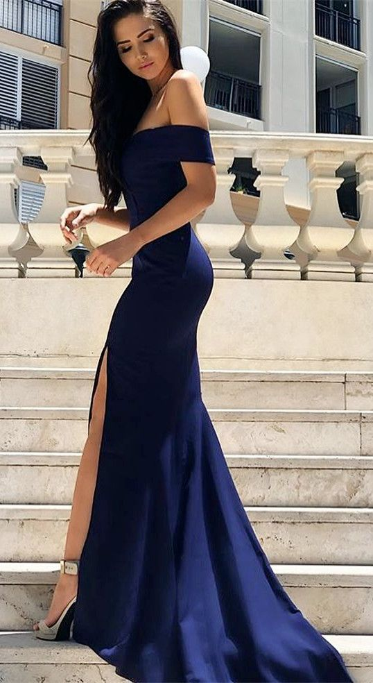 359b728e509b New Arrival Sexy Off the Shoulder Royal Blue Mermaid Long Evening ...
