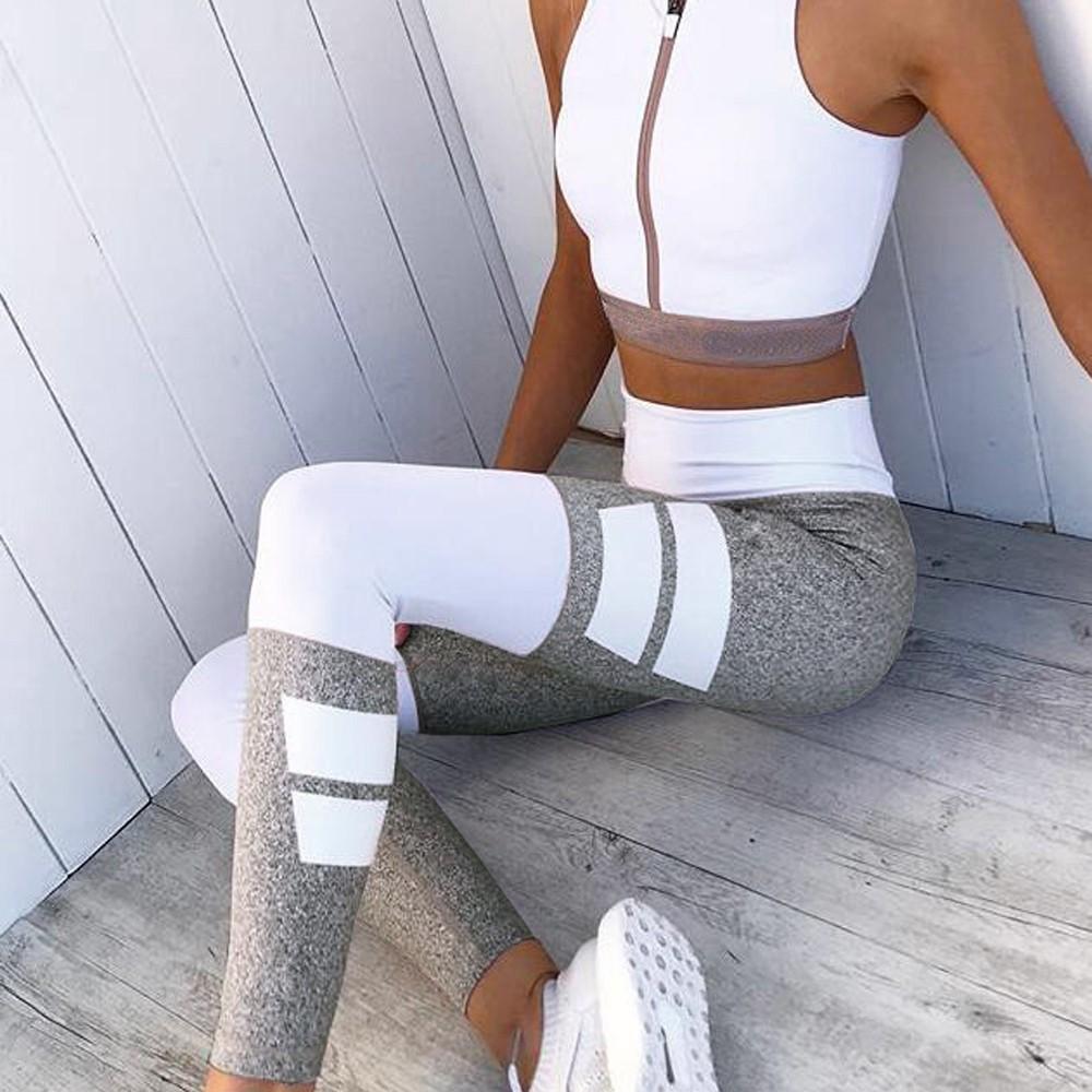 46c7717a Women High Waist Patchwork Legging Fitness Pants