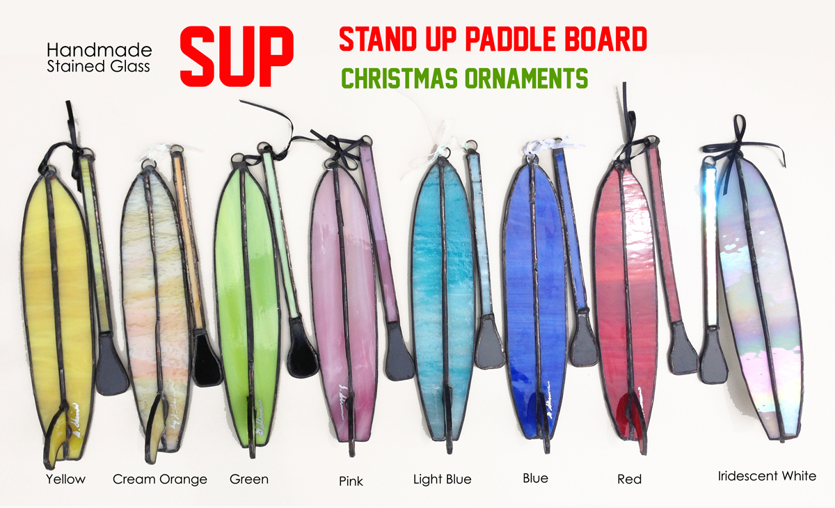 Stand up paddle board ornament - Sup 2013 Stained Glass Ornaments_original