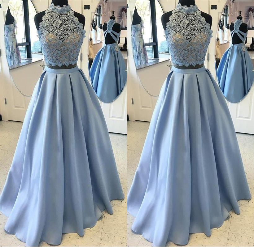 really comfortable most popular shoes for cheap Elegant 2 Pieces Lace Satin A-line Prom Dresses,Simple Cheap Prom  Gowns,Graduation Dresses