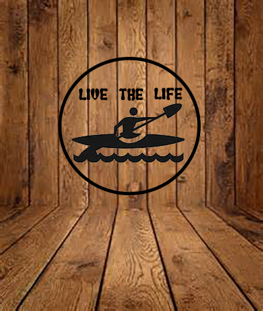 Live to kayak outdoor decal sticker fishing swimming handmade vinyl decal  from Big tees printing