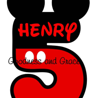 Mickey Mouse Name And Age Iron On