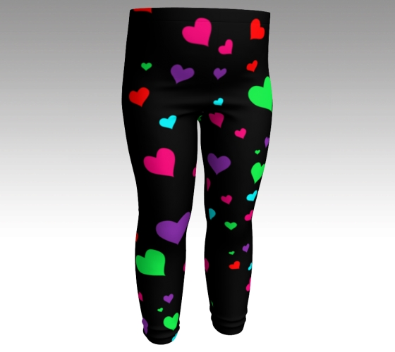 cbd5c3291db61 BABY GIRLS Rainbow HEART Leggings Girls Clothing Kids Youth Leggings  Valentines Day Heart Pants For Girls Toddlers Baby (Ages 6 mos. - 3T ) on  Storenvy