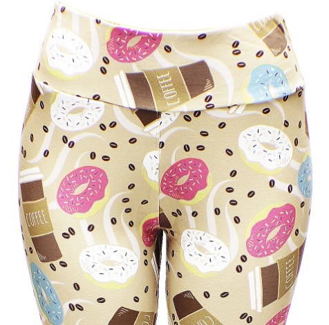 0fc5bb6a Coffee and Donuts Designer Leggings