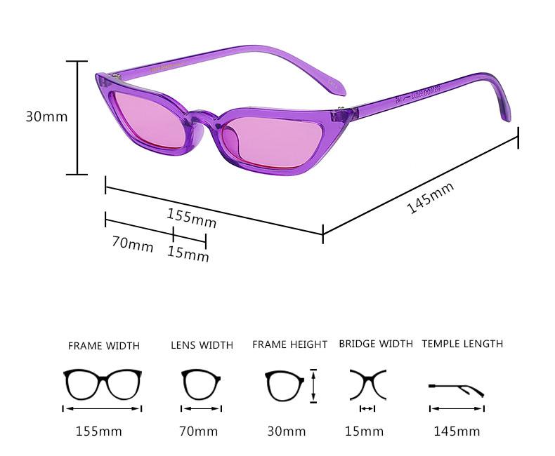 9b8bfa49b942f Cat Eye Sunglasses Women Fashion Vintage Small Lense Eyeglasses ...