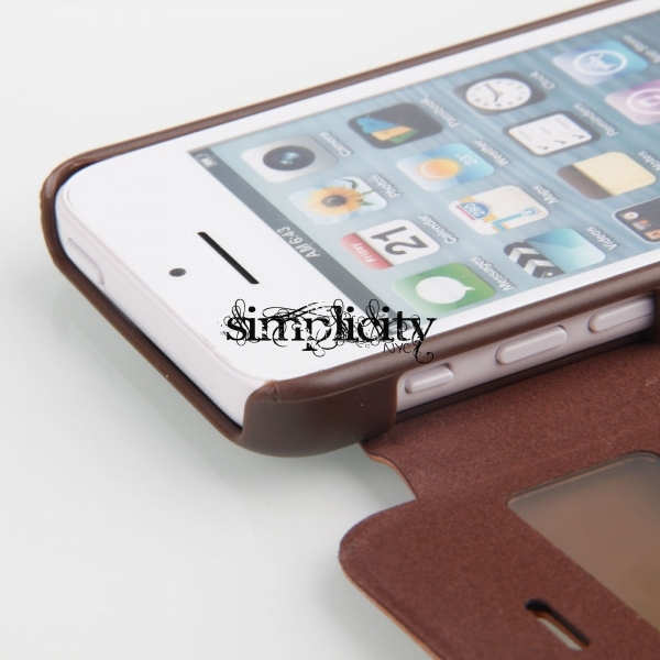 check out e363c 28dc1 Leather Cover iPhone 5C Case