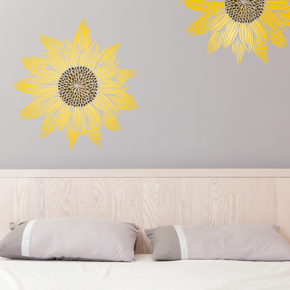 iphone for kids sunflower decorative wall stencil on storenvy 11868