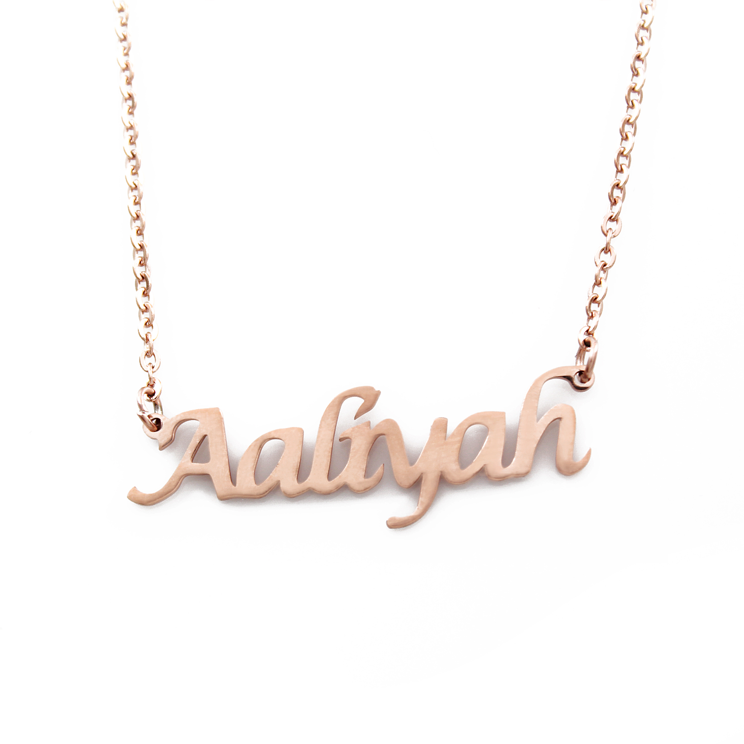 Aaliyah Gold Name Necklace Personalized Jewellery Customized Gifts For Her
