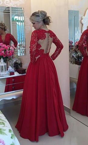 2d016f294 Open back Lace prom dresses