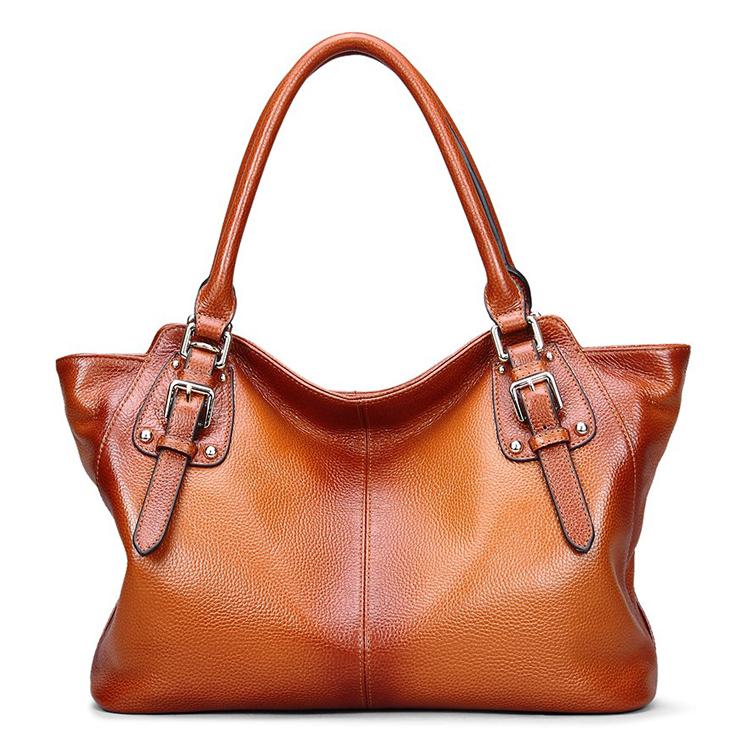 09b422d67524 Genuine Leather Top Handle Satchel Handbag Tote Shoulder Bag Purse  Crossbody Bag for Women