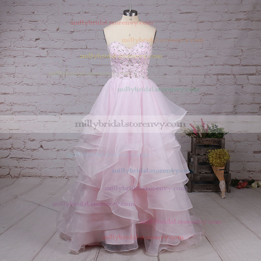 0b6a543ac167 Trendy Prom Ball Gowns For Cheap,Ball Gown Sweetheart Long Evening Dresses,Organza  Formal ...