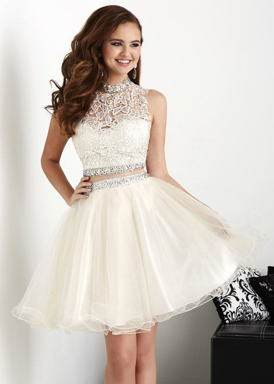 d4cc70439276 White Homecoming Dresses Ball Gowns Short Prom Dress from dressstore