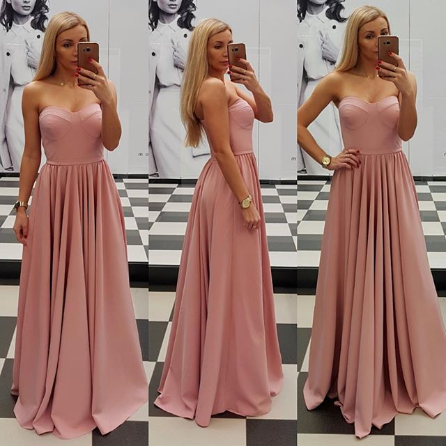 dbc8c89380cb 2018 Sweetheart Princess Prom Dress Blush Pink Formal Evening Gown A ...