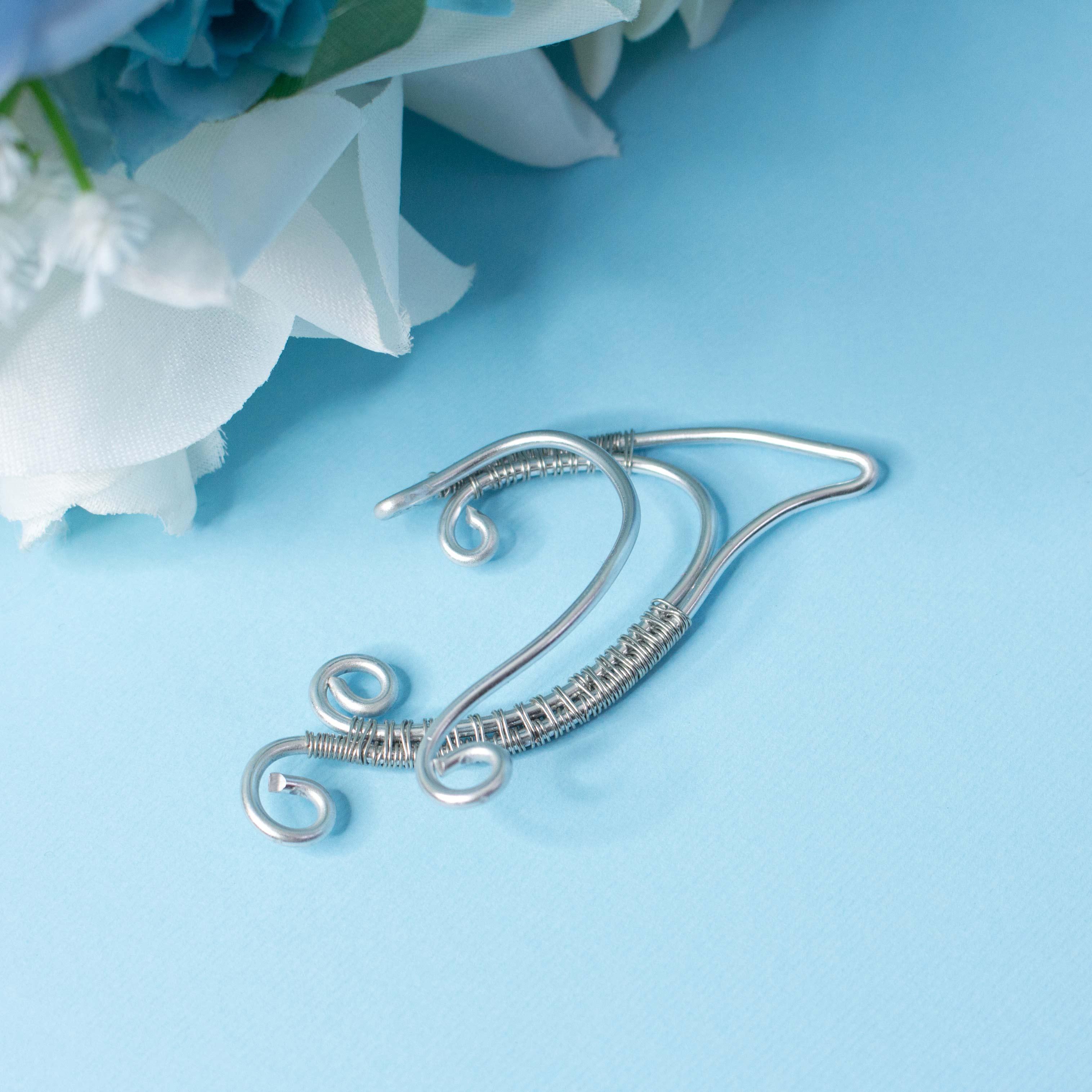 Faramir earcuff elfic handmade earrings - Elven earrings in silver ...