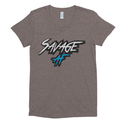 e054a86cceb48 Savage AF Women s Crew Neck T-shirt · savage t s · Online Store ...