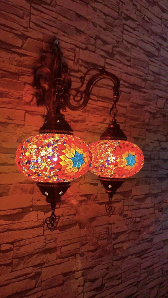Applique Turque Mosaique Tesserae Lampe Marocaine Puraspain
