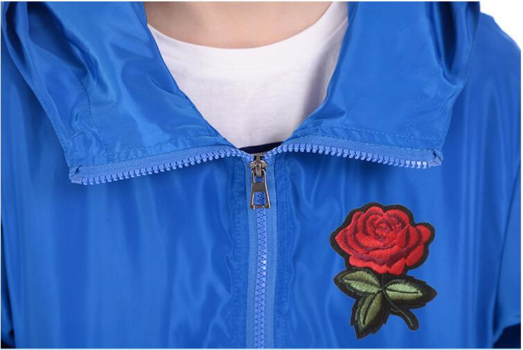 af2c213177 Rose Jacket Windbreaker Men And Women's Jacket New Fashion White And ...
