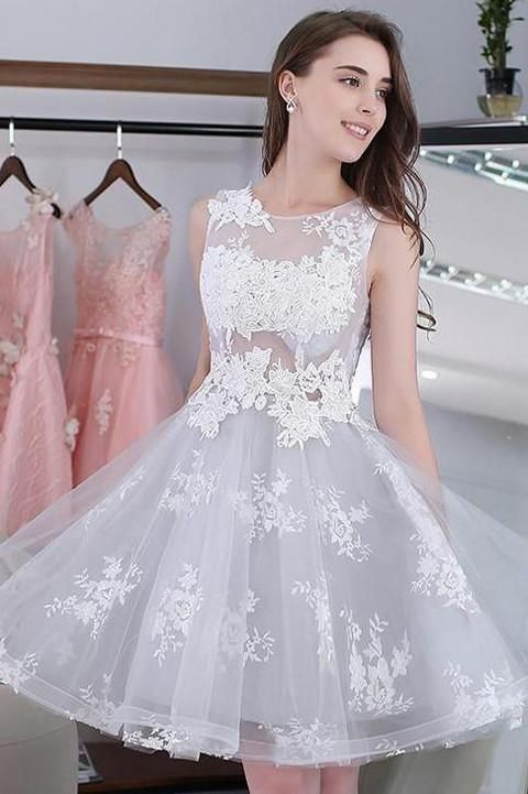 Sweet Homecoming Dresssee Through Lace Homecoming Dresslace Up