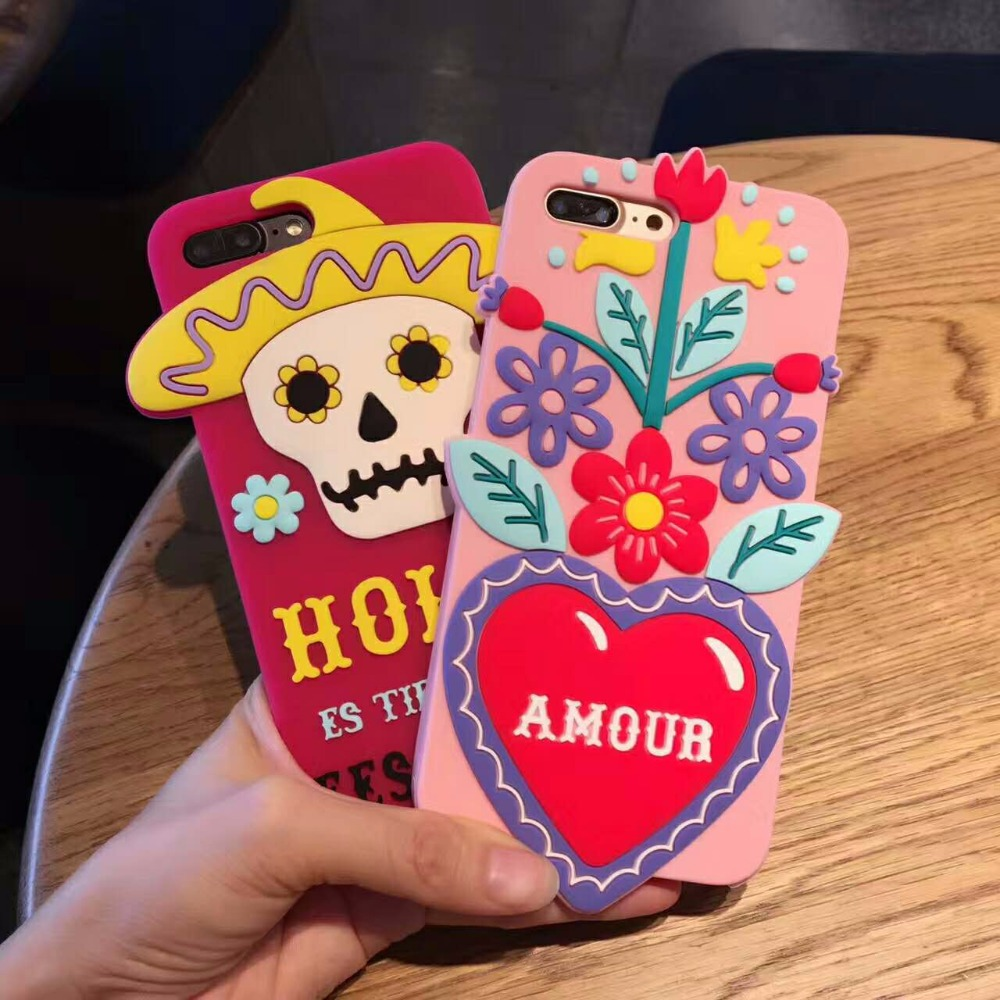 iphone 8 plus case mexican skull