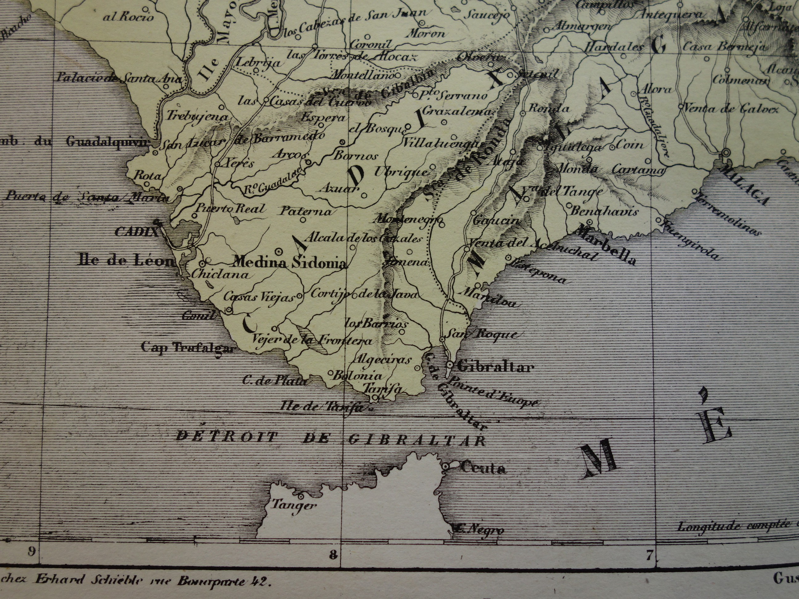 Moron Spain Map.Spain Old Map Of Southern Spain 1858 Original Antique Hand Colored