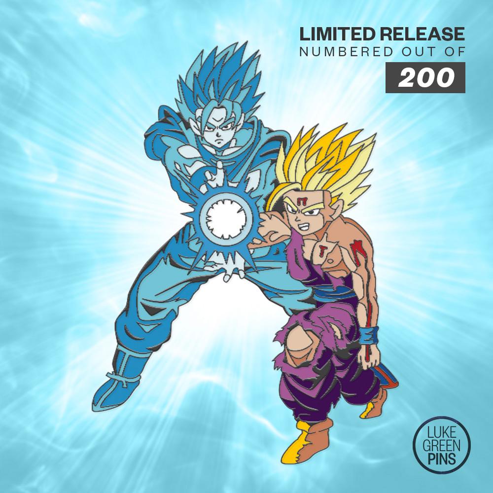 6dcbdb9f Dragon Ball Z - Father & Son Kamehameha Pin (Blue Ki) on Storenvy