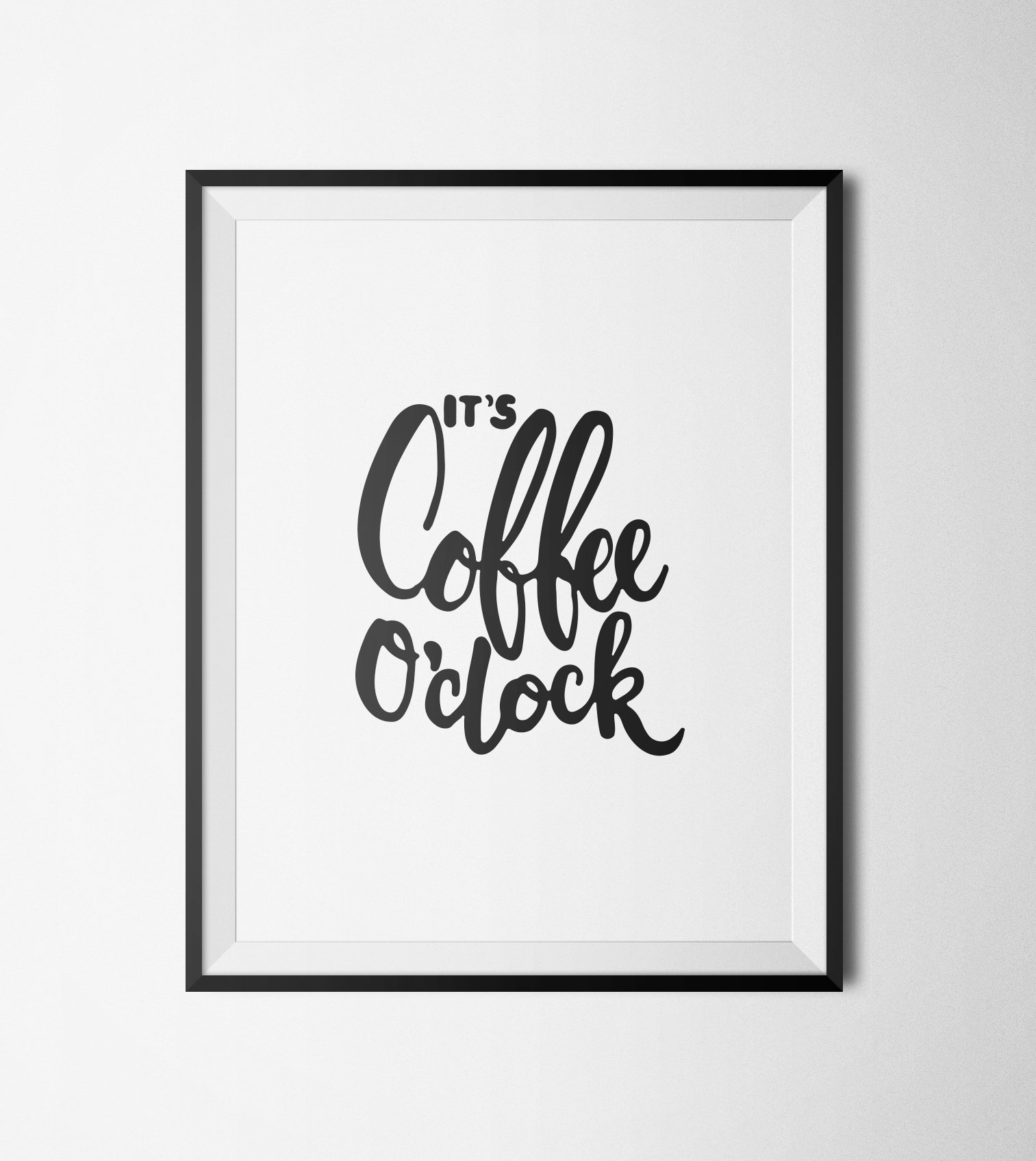 picture about Printable Motivational Posters named Motivational Poster, Its espresso Oclock Printable Quotation, Typography Wall Artwork, Printable Artwork, Typography Print, Quotation Posters bought through Create A Wake