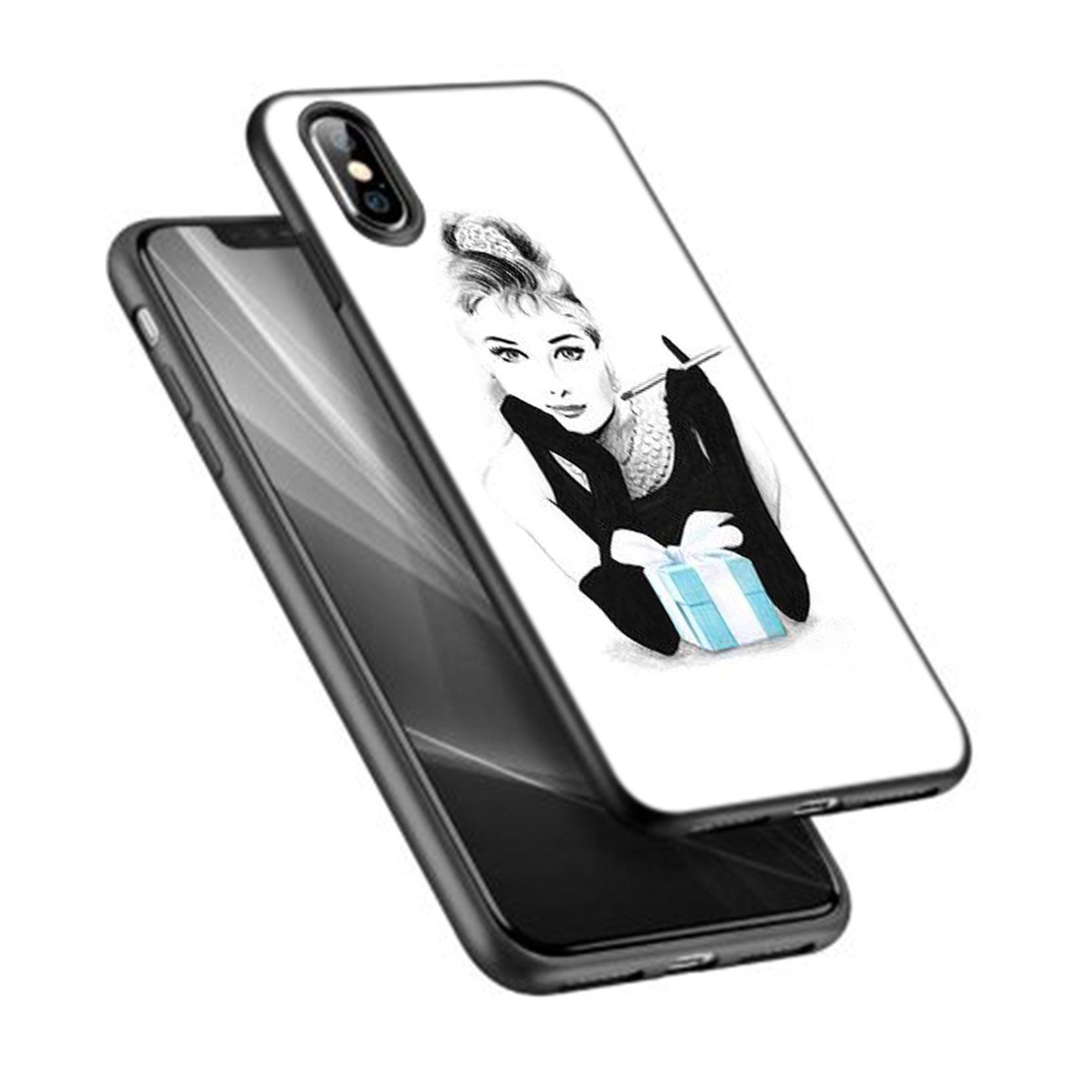 online store 4bacd f959d audrey hepburn tiffany and co - iPhone X Case from Laris Manis