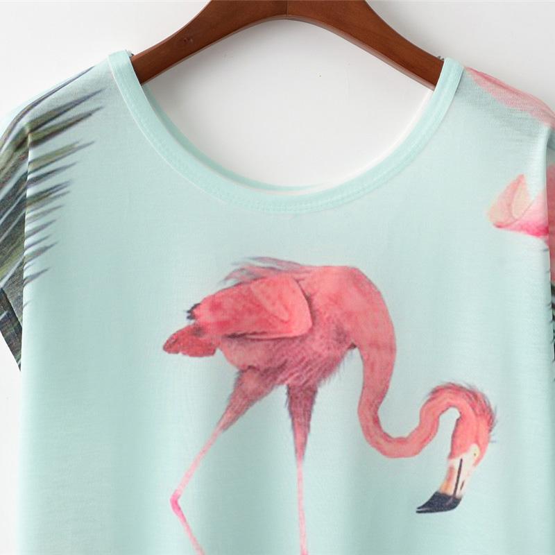 b1f7686a705 Harajuku Kawaii Bird Crane Print T-shirt on Storenvy
