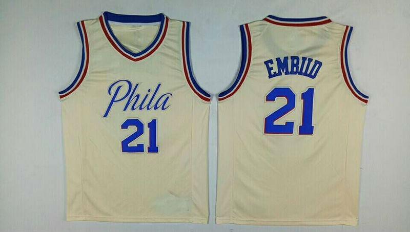 80487485a Men s Philadelphia 76ers 21  Joel Embiid Jersey City Edition ...