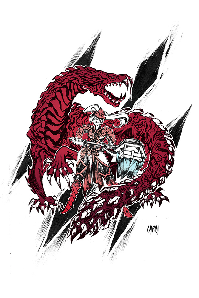 Monster Hunter Odogaron Sold By Cypri S Art Store On Storenvy