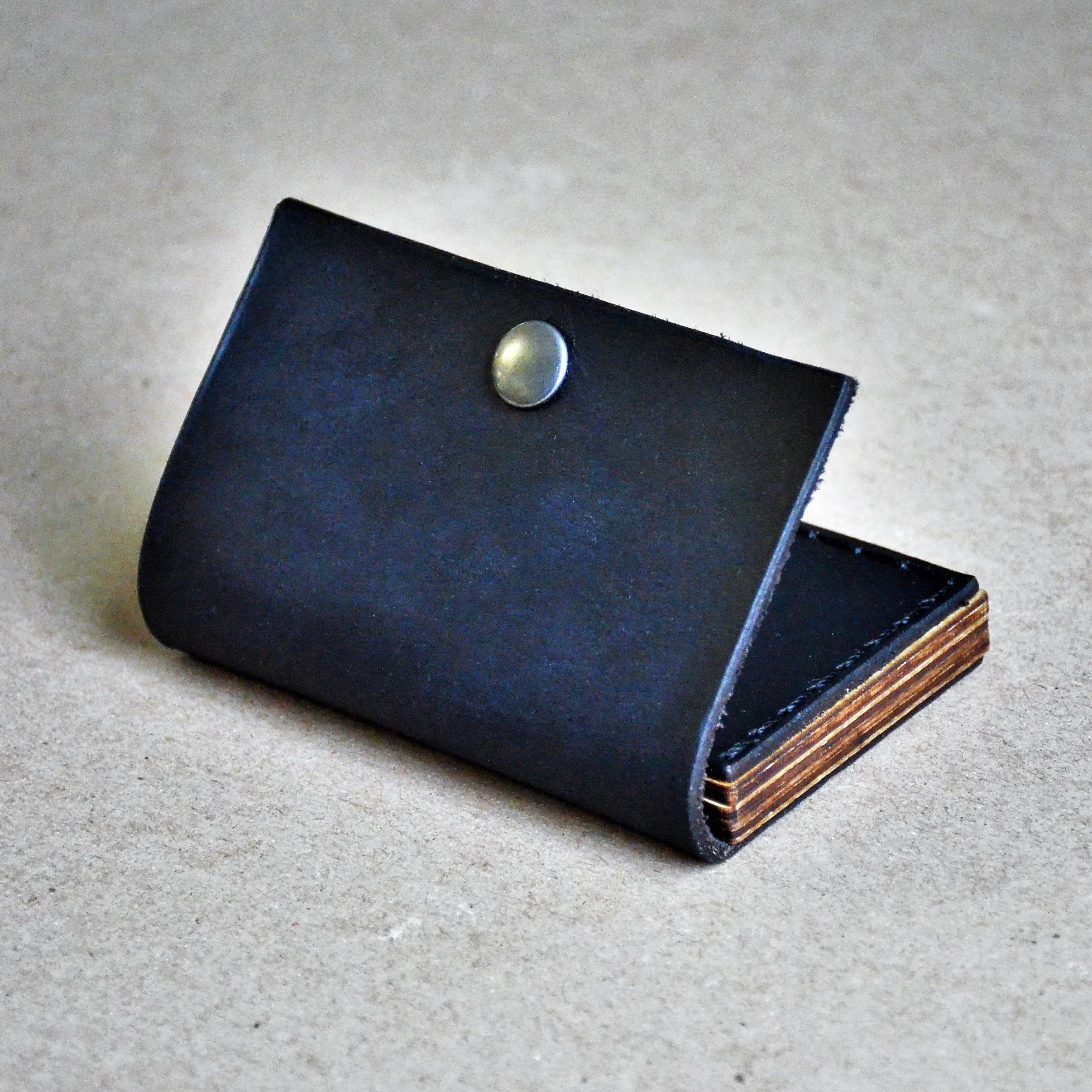 hot sale online 78280 6328c Business Card Wallet//Minimal Modern Rugged Simple Card Holder Case//Oiled  Leather & Wood//Gift Men Boss Groomsman Bridesmaid Graduation