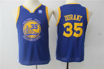 e03bab93f42 2018 Youth Golden State Warriors #35 Kevin Durant Basketball Jersey ...