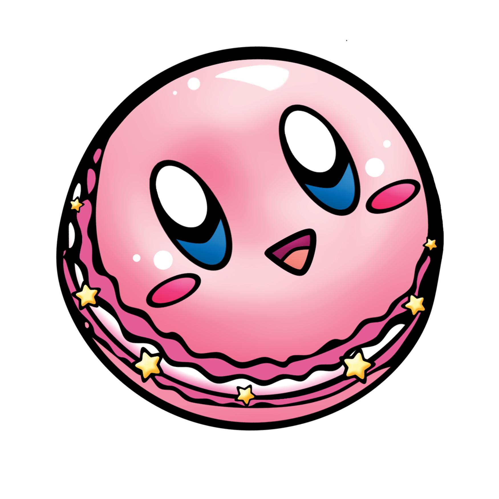 Kirby Macaron Vinyl Sticker - 3