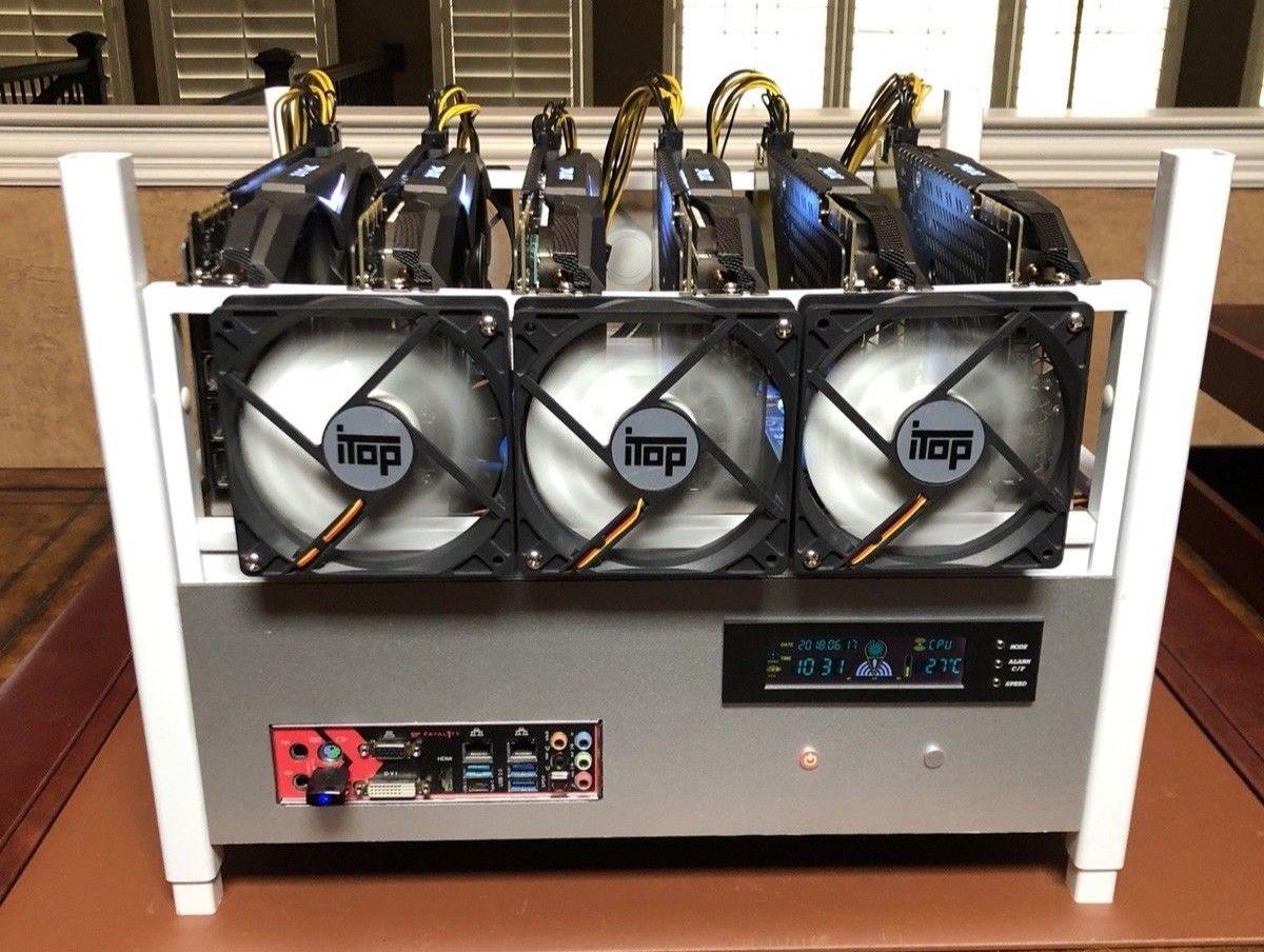 Mining Rig: 6X GeForce GTX 1070 - 180 mHash/sec Ethereum + 20 other alt  coins