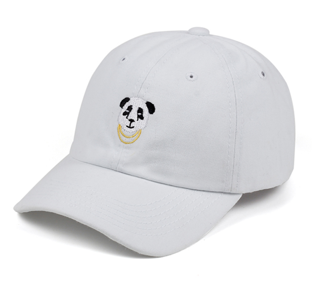 0ce1751c81897 PANDA GANG CAP IN WHITE · SO FUN MART · Online Store Powered by Storenvy