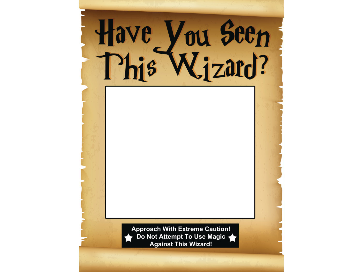 Large Custom Wizard Scroll Photo Booth Prop Frame Magician Wizard Party Selfie Frame For Happy Birthday Picture Sizes 48x36 36x24 1001125