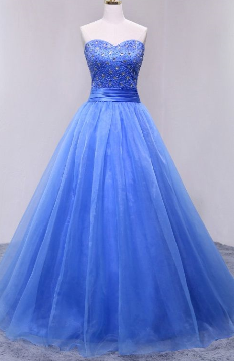 752d4f444736 Ball Gown Sweetheart Organza evening gowns,sexy ball gowns, custom made prom ,new
