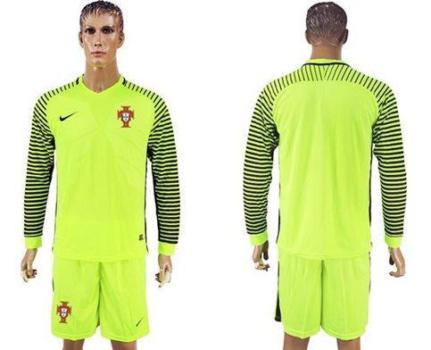 b2dcbbef4e4 Portugal Blank Green Long Sleeves Goalkeeper Soccer Country Jersey on  Storenvy