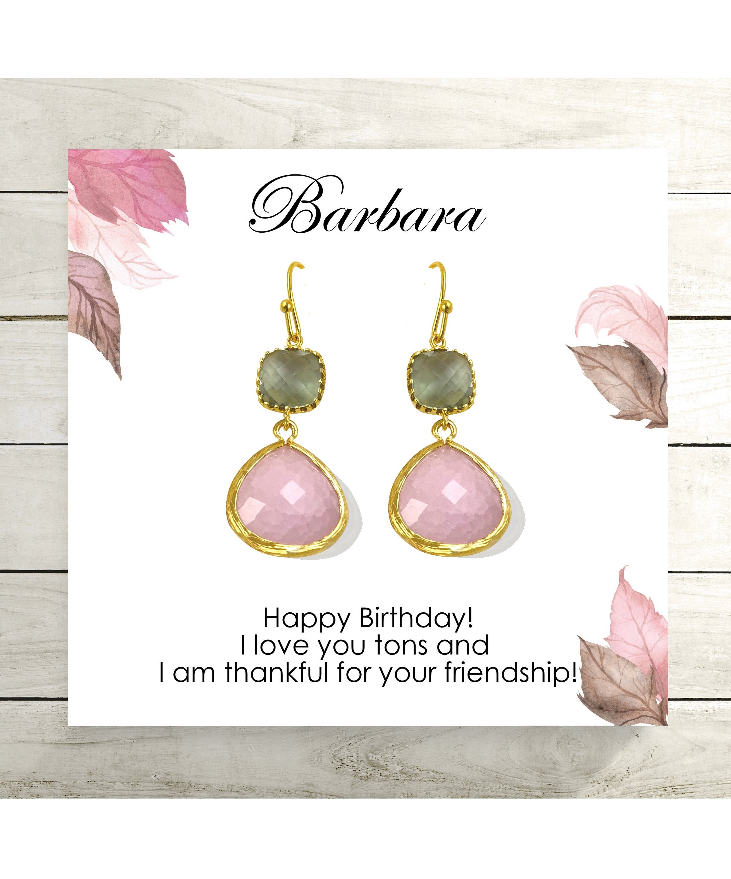 fa44d8b589ec0f Light Pink and Gray Dangle Earrings / Best Friend Birthday Gift Idea ...