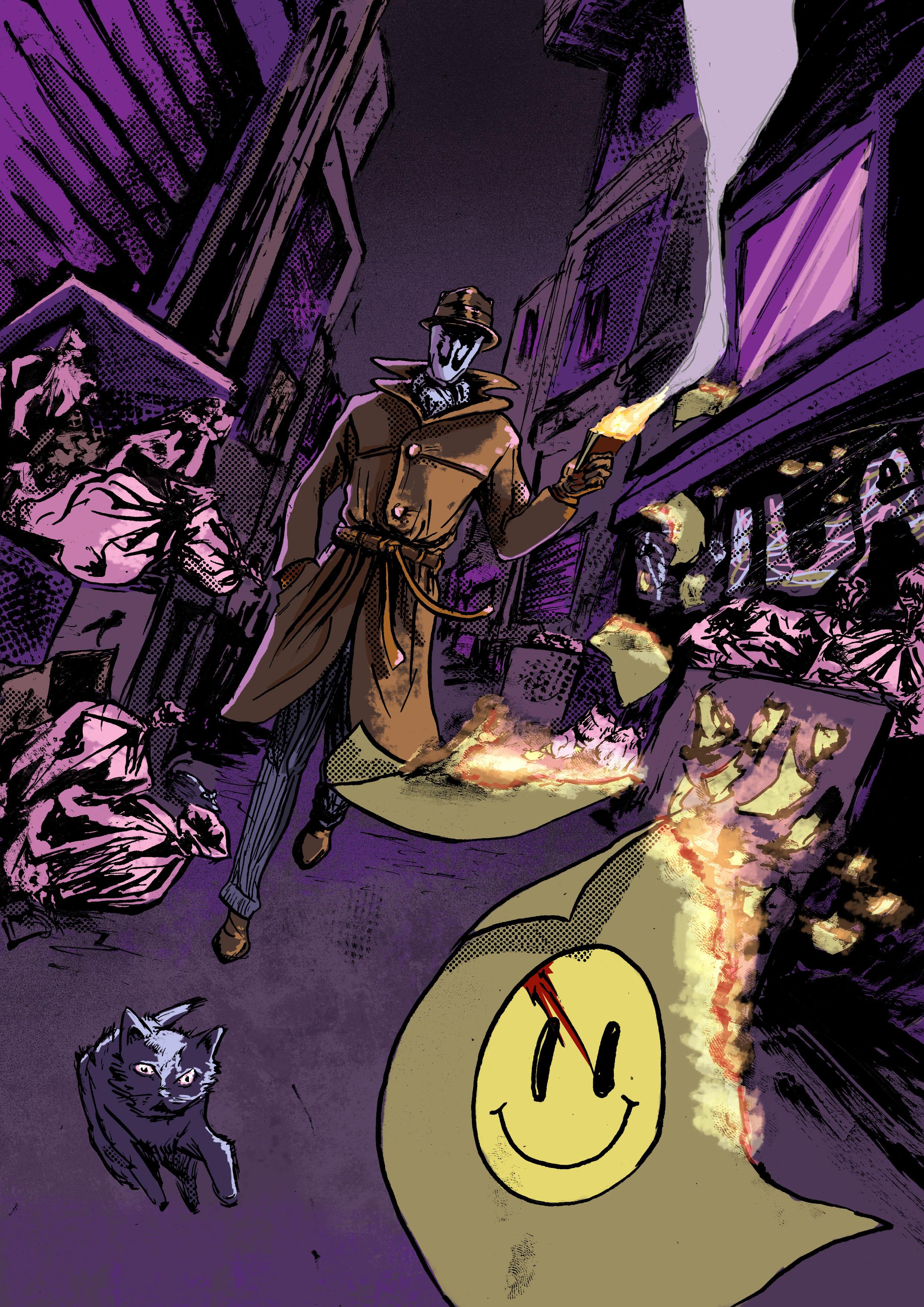 watchmen rorschach poster on storenvy