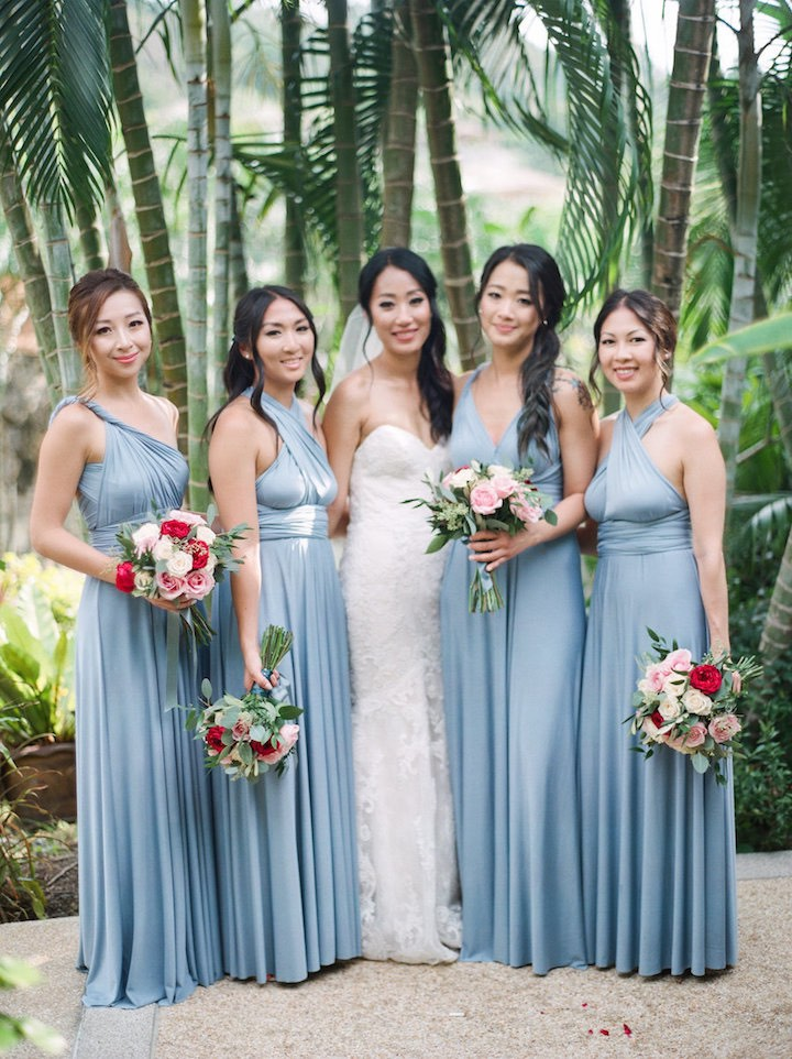 Dusty Blue Bridesmaid Dresses Convertible Bridesmaid