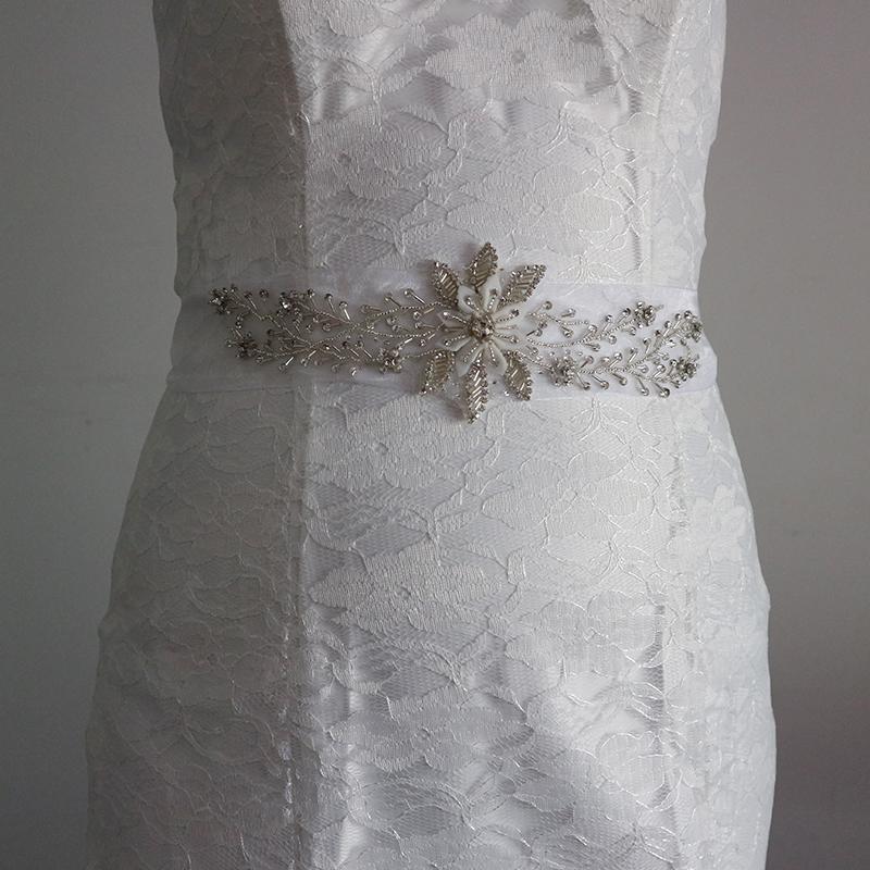 42cadebe696 Rhinestone organza flower Wedding Belt