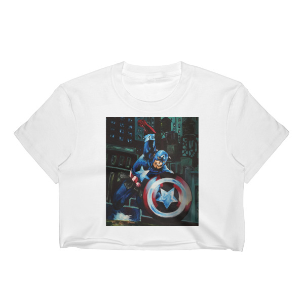 7f171f1b82ba87 Captain America Women s Crop Top on Storenvy